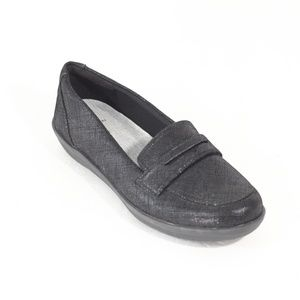Clarks Cloudsteppers Black Loafers Womens Shoes